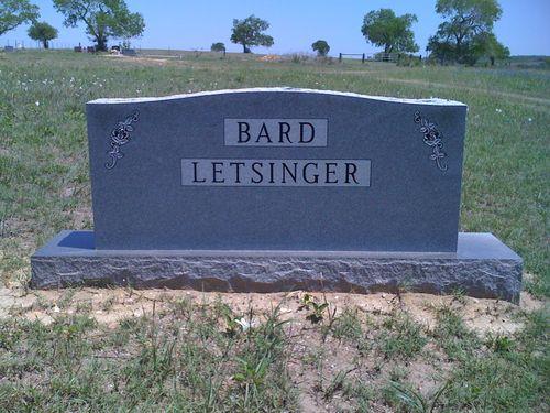 Bard Letsinger Grave Stone