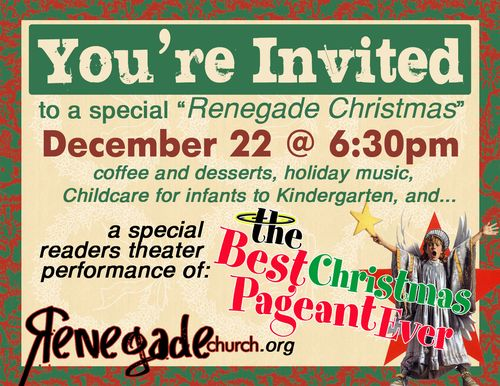 Christmas Theater Invite